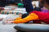 Tibetan Prostrating Outstretch Arms Flat Ground