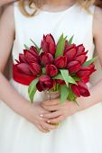 Red Tulip Wedding Bouquet
