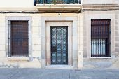 Door And Windows At Sarri� District (barcelona)