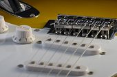 foto of stratocaster  - Closeup of electric guitar Stratocaster - JPG