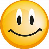 Emoticon with smiley face, yellow web icon