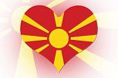 Macedonian Flag Heart