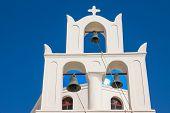 Traditional belltower of a greek church