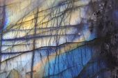stock photo of labradorite  - labradorite as very nice blue mineral background - JPG