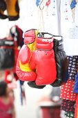 Rea And Black Boxing Glove For Sell In Market