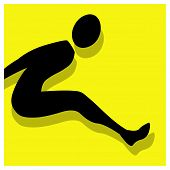 Long Jump Pictogram