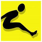 Long Jump Pictogram