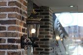 Retro Lantern On The Wall
