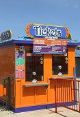 Ticket booth in Coney Island Luna Park.