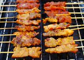 Grilled pork satay