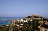 picture of akropolis  - castle  on the hill in Lindos - JPG