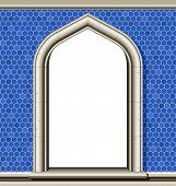 Arch Window, Blue Tiles