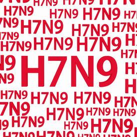 stock photo of avian flu  - H7N9 flu virus concepts new flu virus outbreak in china - JPG