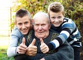 Male Generations Thumbs Up