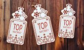 Three Christmas Cards With Top Secret Sticker