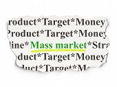 Marketing concept: Mass Market on Paper background