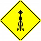 oil drilling tower sign