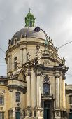 stock photo of eucharist  - The Dominican church and monastery in Lviv Ukraine is located in the city - JPG