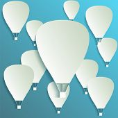 Paper Hot Air Balloon Banner With Drop Shadows