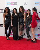 LOS ANGELES - NOV 24:  Fifth Harmony at the 2013 American Music Awards Arrivals at Nokia Theater on