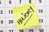 Holiday Reminder