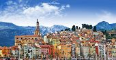 colors of Southern Europe - Menton - beautiful town, border Franc