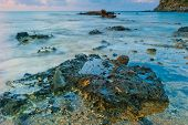 foto of racy  - racy stone sea at dawn in flowing water - JPG