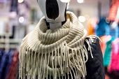 Mannequin in mall center with  neckerchief