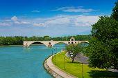 Ruins Of Bridge In Avignon, France