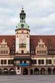 stock photo of leipzig  - Old Rathaus  - JPG