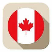 Canada Flag Button Icon Modern