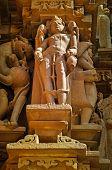 Human Sculptures Of Kandariya Mahadeva Temple, Khajuraho, India, Unesco Site.
