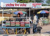 Specialized Vendor Sells Fresh Eggs.