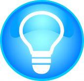 skyblue bulb button