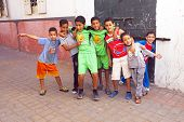 RABAT, MOROCCO - October 15 2013 : Kids in the streets on Eid al-Adha. The festival is celebrated by
