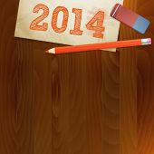 Vintage Paper Pf 2014 New Year