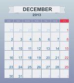 Calendar to schedule monthly. december 2013