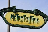 Classic Yellow Paris Metro Sign