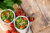 stock photo of vegetarian meal  - Dietary food background - JPG