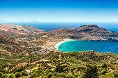 Crete island in summer. Panoramic view.