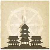 picture of buddhist  - Buddhist temple old background  - JPG