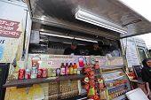 Deli truck offering pastrami & corned beef