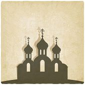 Orthodox church old background