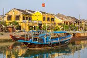 Boat on the Hoai river, Hoi An ancient town, Da Nang, Vietnam