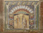 Multi-colored wall mosaics of Venus and Neptune