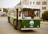 Old trolleybus.