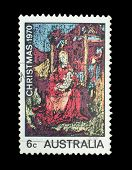 Australia - Circa 1970: A Stamp Printed In Australia Shows The Madonna And Child, By William Beasley