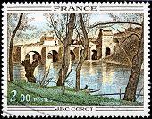 Corot Stamp
