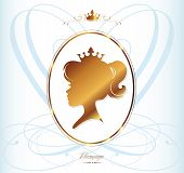 picture of niece  - Girl Princess Silhouette On Light Background - JPG