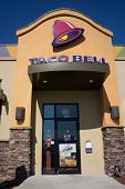 JACKSONVILLE, FL - MAY 5, 2014: The front entrance of a Taco Bell fast-food restaurant in Jacksonvil
